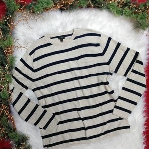 J. Crew Soft Cotton Striped Crewneck Sweater